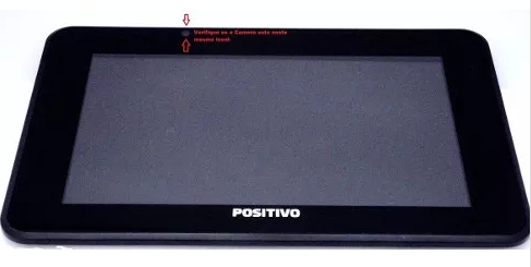 Display Lcd Tela Touch Tablet Ypy Ab7e Positivo Preto