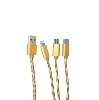 Cabo Carregador USB 3 em 1 Iphone Samsung Motorola Lg Universal