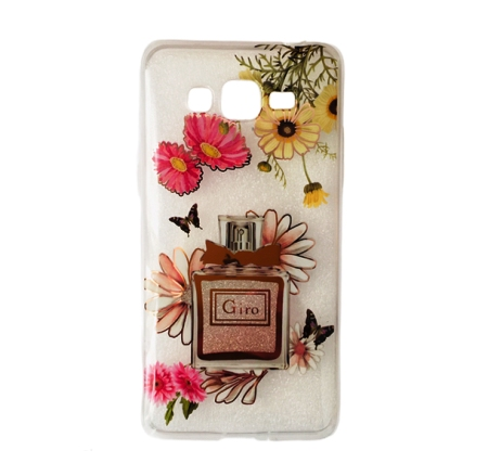 Capa Personalizada Flores Perfume C/ Brilho Galaxy J2 Prime Gran Prime Cód 1066