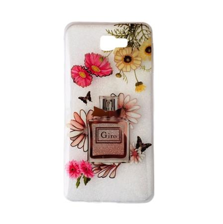 Capa Personalizada Flores Perfume C/ Brilho Galaxy J5 Prime  Cód 1066