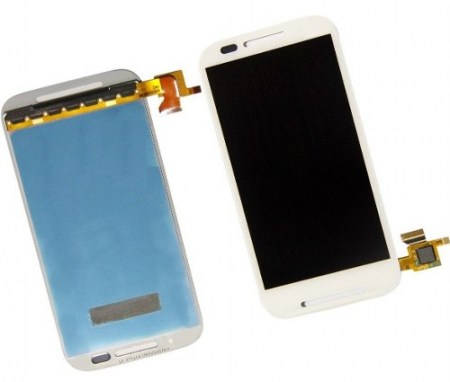 Display Lcd Tela Touch Frontal Moto E Xt1022 Xt1025 Branco